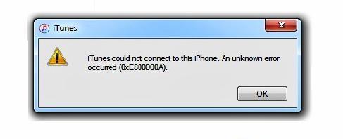 Ошибка 0xE800000A iTunes что делать